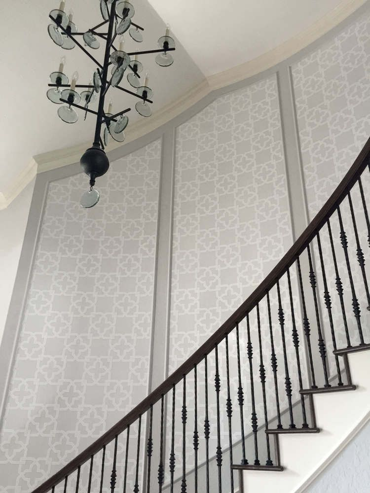Here S How I D Decorate That Blank Boring Empty Wall Space You Have Over There Designed Stair Walls Stair Wall Decor Staircase Wall Decor