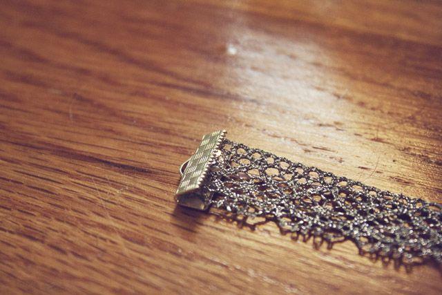 Lace Bracelet DIY