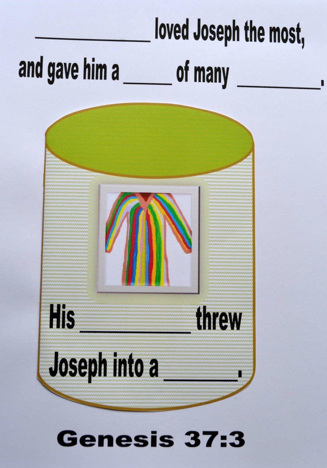 Bible Fun For Kids: Genesis: Joseph\'s Dreams and His Colorful Coat ...