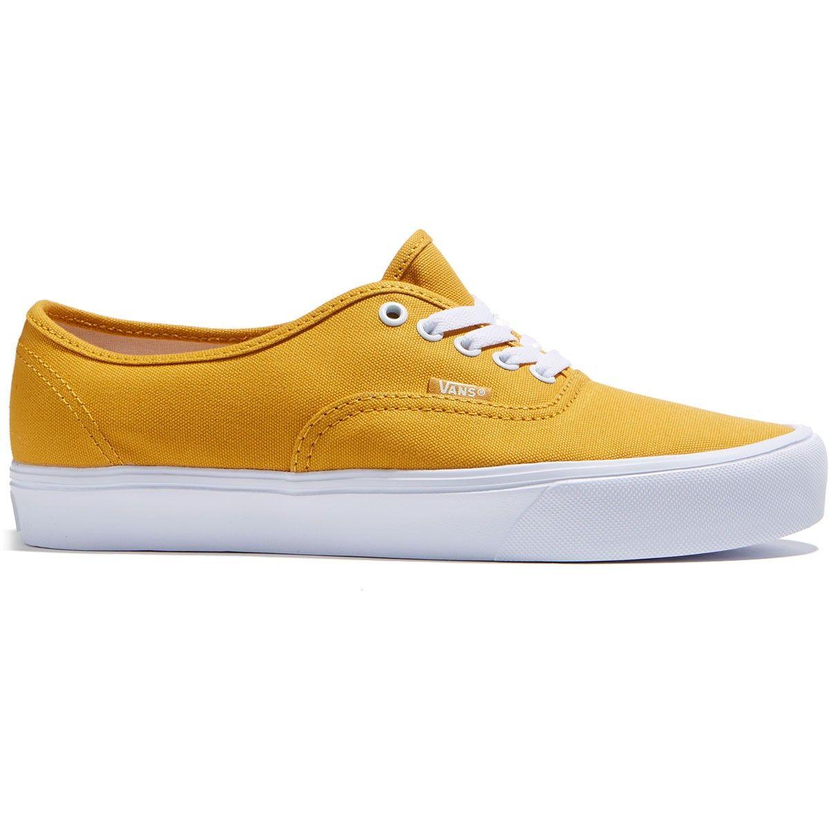 Vans Authentic Lite Shoes - Golden Yellow True White - 8.0  ebc06eb83