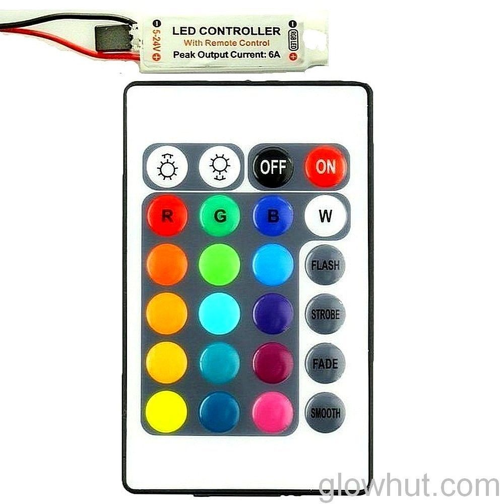 Rgb Led Light Strip Controller 17 Key Rf Remote Dc 12 Volt 9 V Battery Connector Ebay Rgb Led Strip Lights Led Strip Lighting Rgb Led
