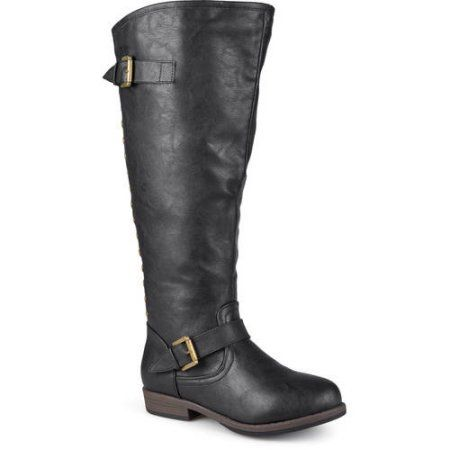 Brinley Co. Womens Extra Wide Calf Knee-high Studded Riding Boots ...