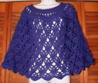 Elegant lace poncho free original patterns crochetville elegant lace crocheted poncho free pattern i made this as a capelet about half the length dt1010fo
