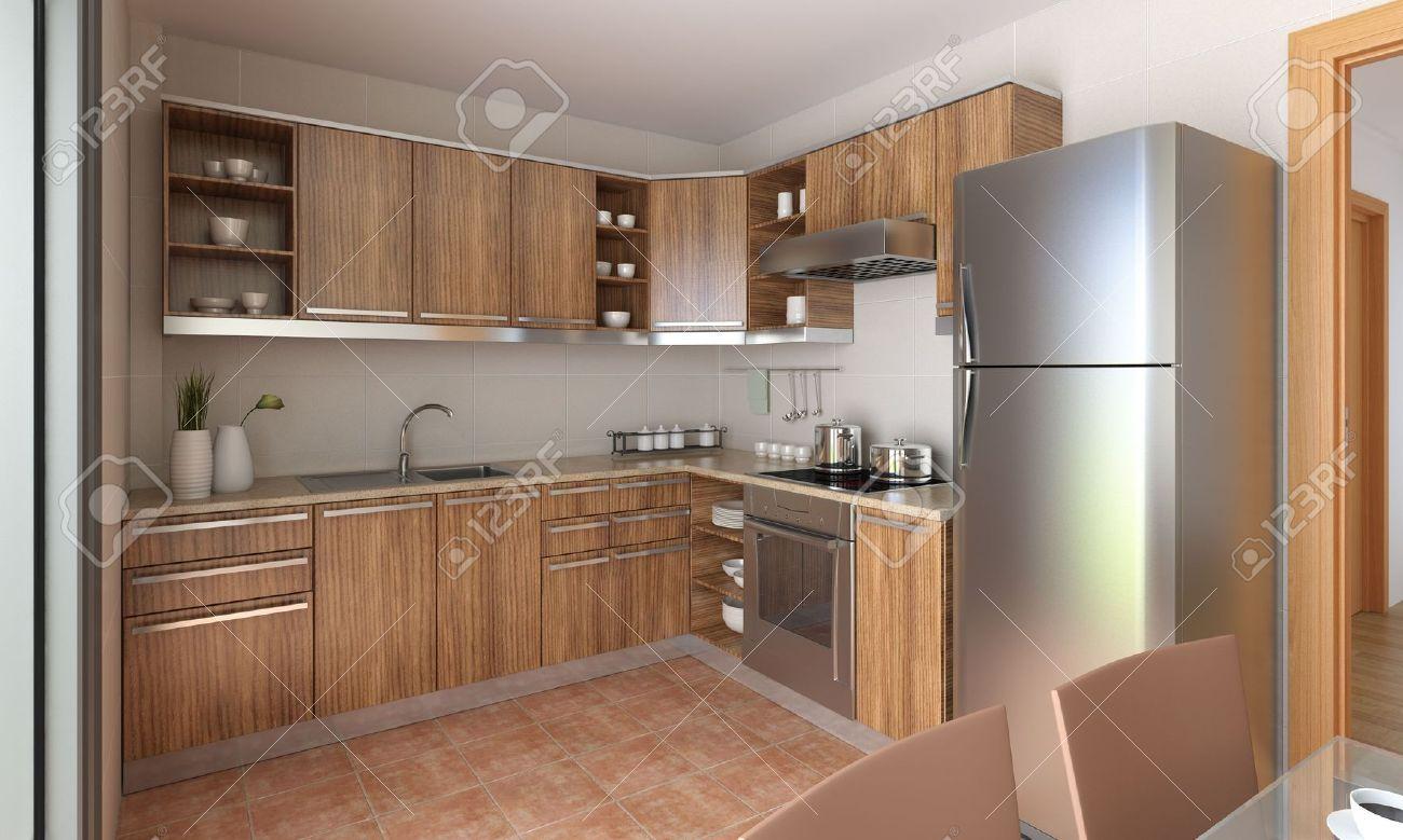 Extrêmement grey flooring kitchen natural wood cabinets http://www.kitchen  SZ64