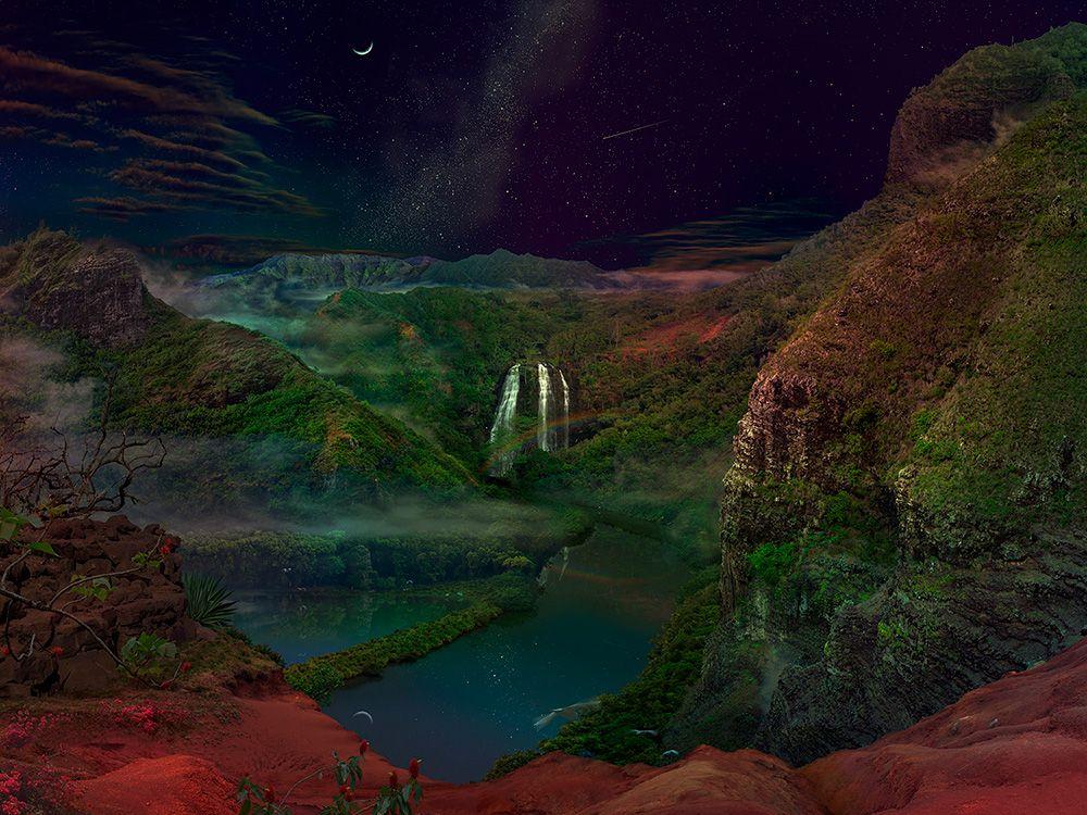 The critical angle of all our eyes on manifest dreams beyond / Satoshi Matsuyama  #Satoshi Matsuyama #Hawaii #art #Landscape