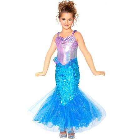 902f96de86e3 Mermaid Child Halloween Costume - Walmart.com | Halloween in 2019 ...