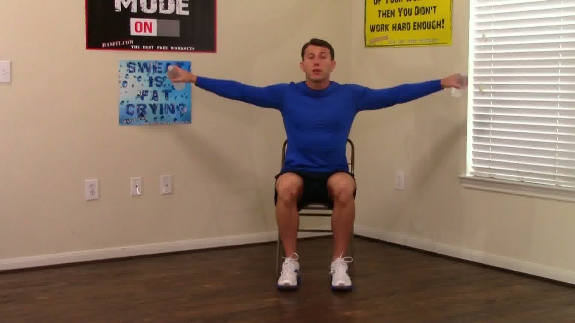 Chair Exercises For Seniors In Wheelchairs Comfy Wingback 10 Min Workout Hasfit Seated Exercise