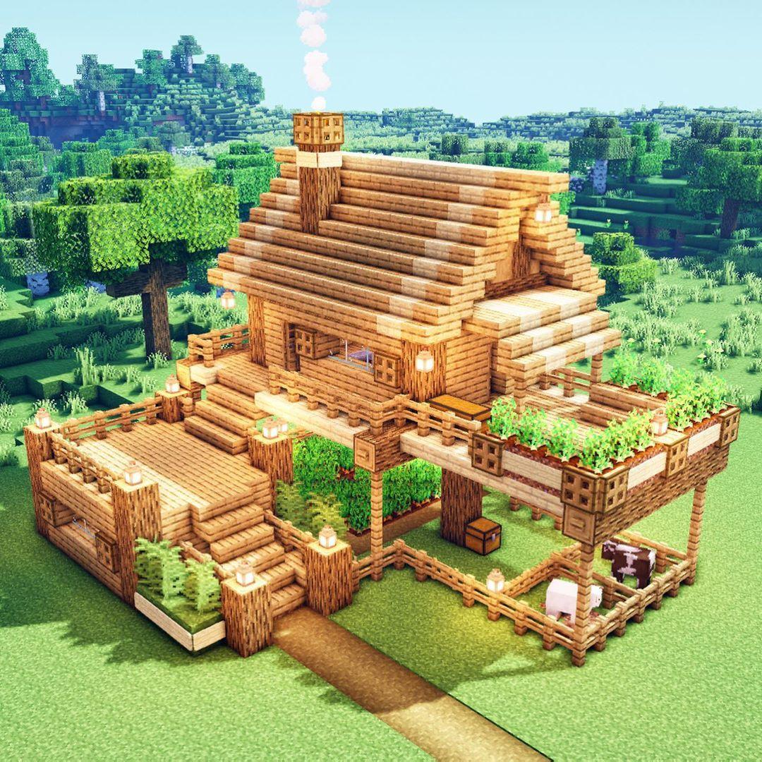 Minecraft Simple Farmhouse - House Decor Concept Ideas