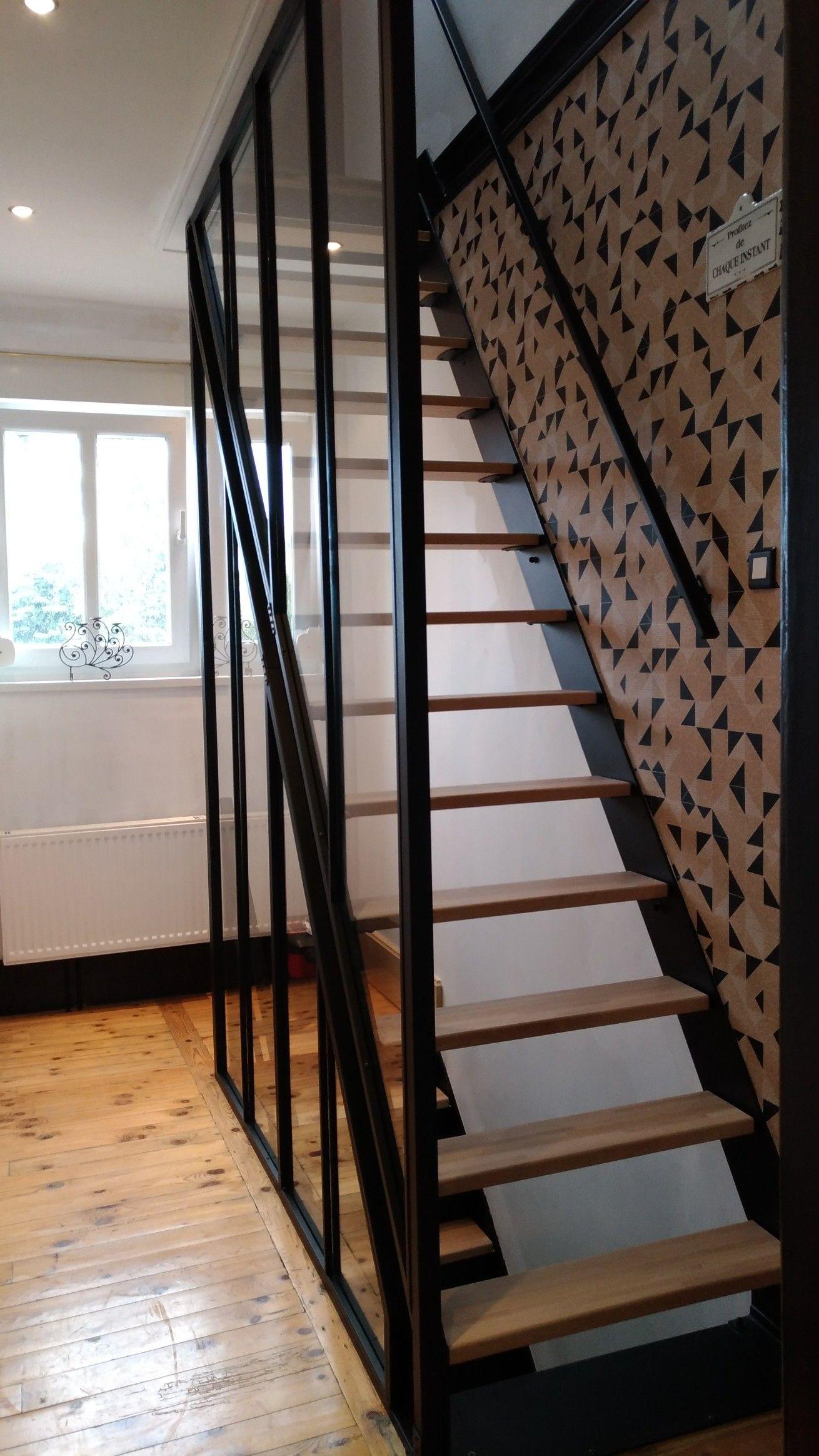 Verriere Et Escalier Metal Bois Escalier Metal Pinterest