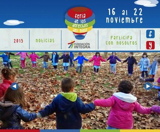 Mockup sitio web Feria de los Derechos del Niño