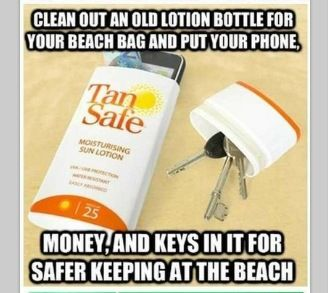 Conceal your stuff on the beach