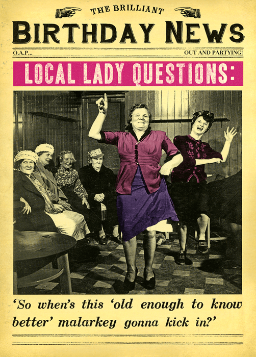 Funny Birthday Card For Her Old Enough To Know Better Comedy