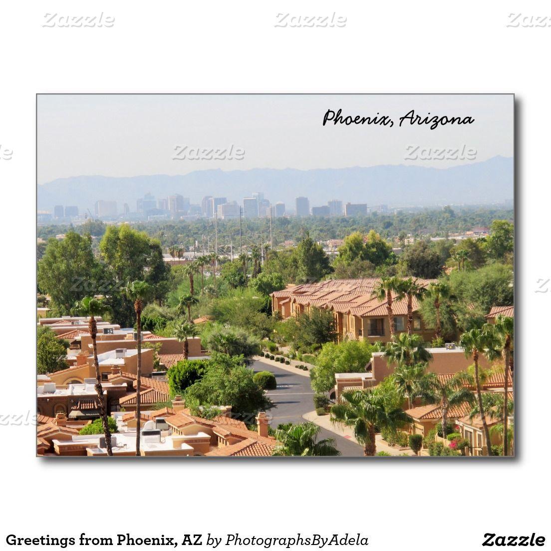 Greetings From Phoenix Az Postcard