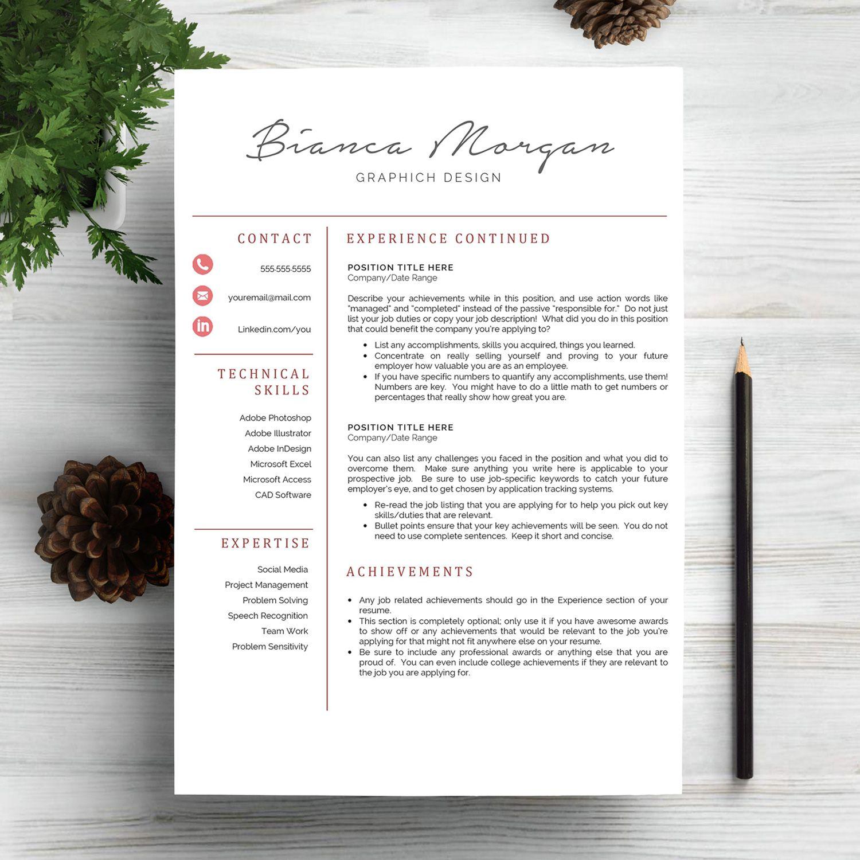Professional Resume Design Professional Resume Template Cvindograph On Creativemarket