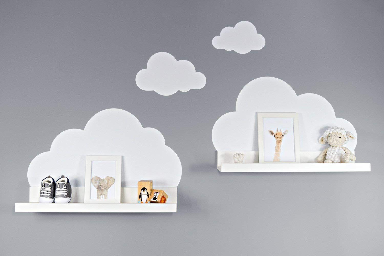 Attraktiv Babyzimmer Wandtattoo Ideen Von Wolken In Weiß Für Ikea Regalbrett Ribba/mosslanda