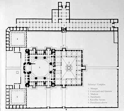 Plan Selimiye Mosque Turkey Foto Selebriti Dunia