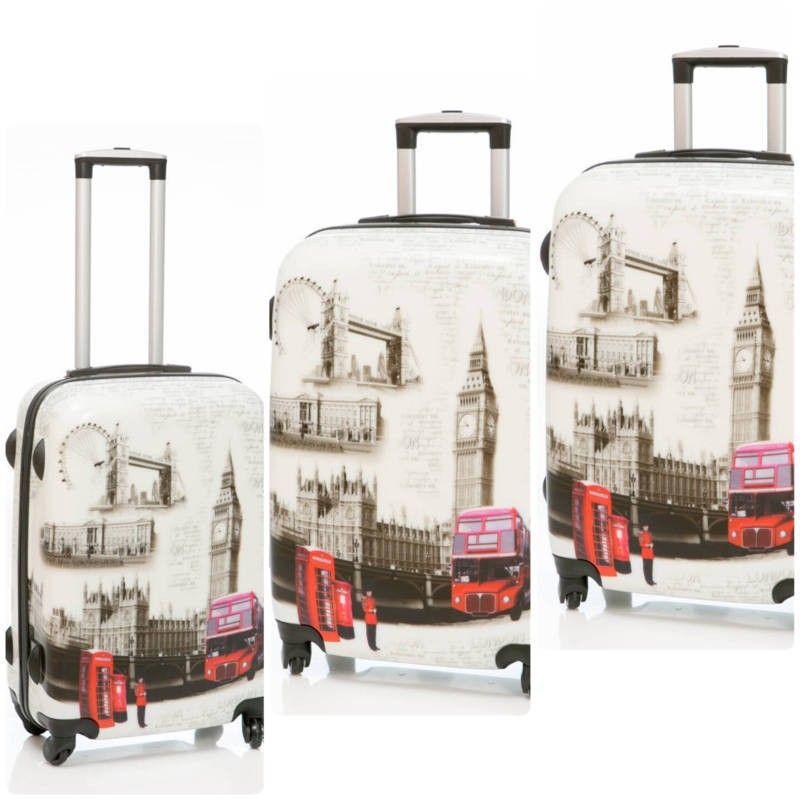 fa314352e juego de 3 Maletas de viaje modelo Bus, son unas maletas duras de 4 ruedas  de goma silenciosa, con diseño muy moderno