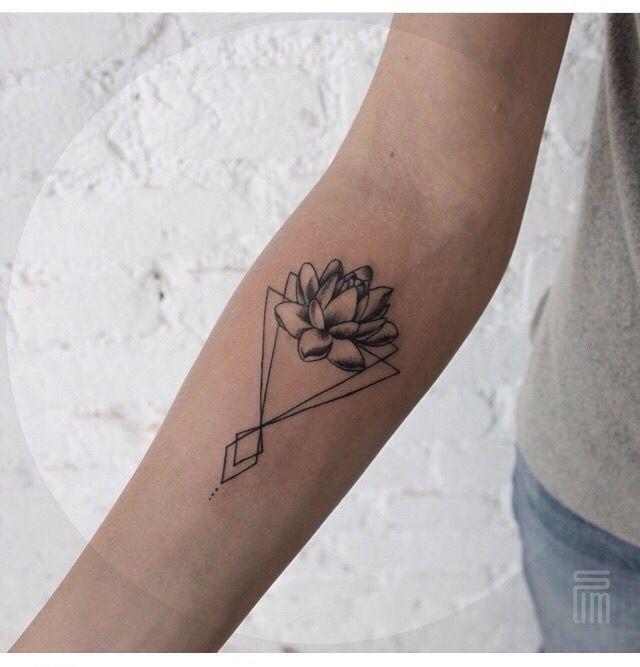 Lotus Flower Tattoo Triangle Tattoos Tattoos Geometric Tattoo