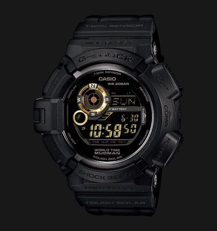 Casio G Shock G 9300GB 1DR Black Amp Gold Mudman Tough Solar
