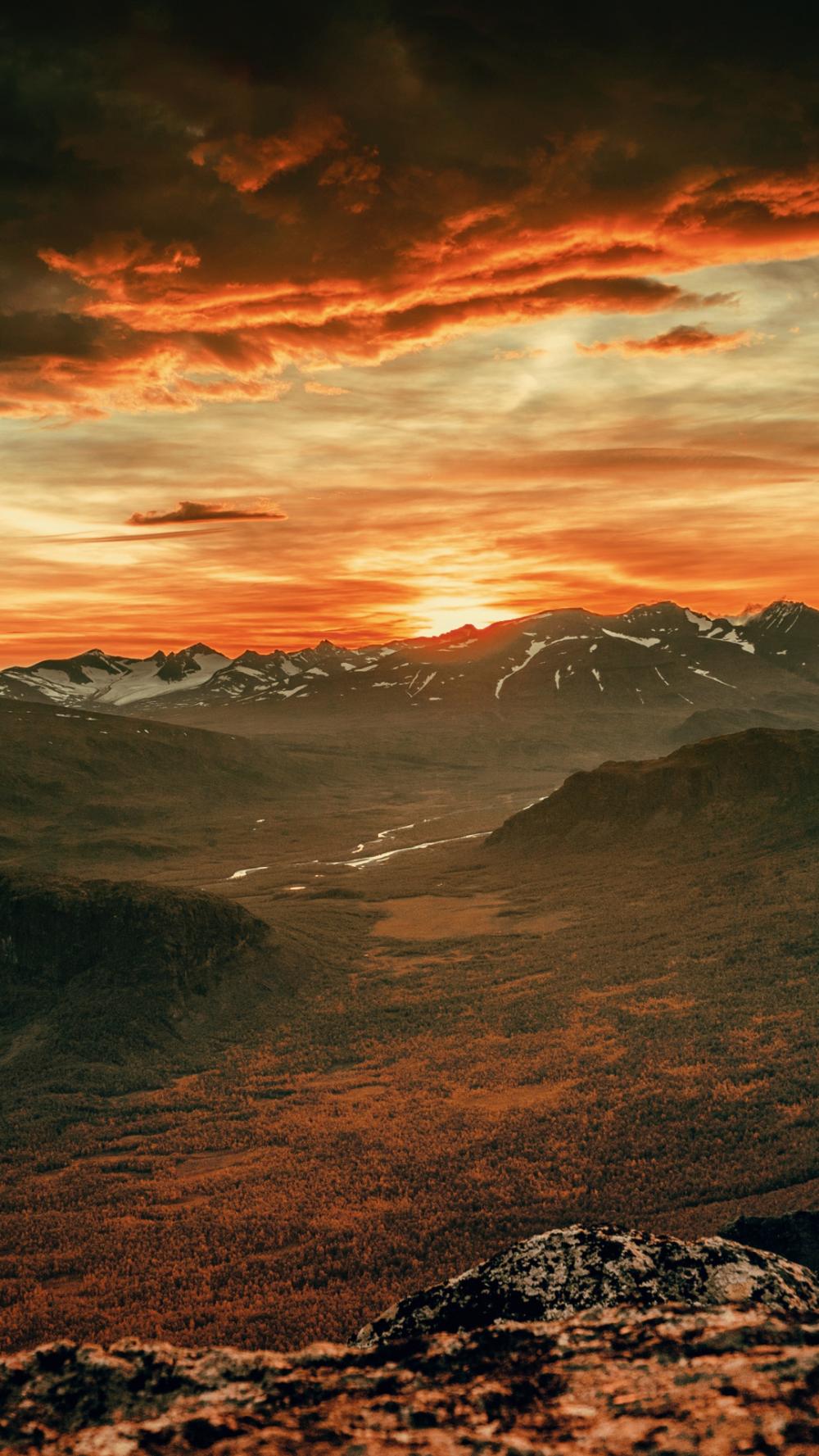 Sunset, Mountain, Cloud iPhone Wallpaper Sunset photos