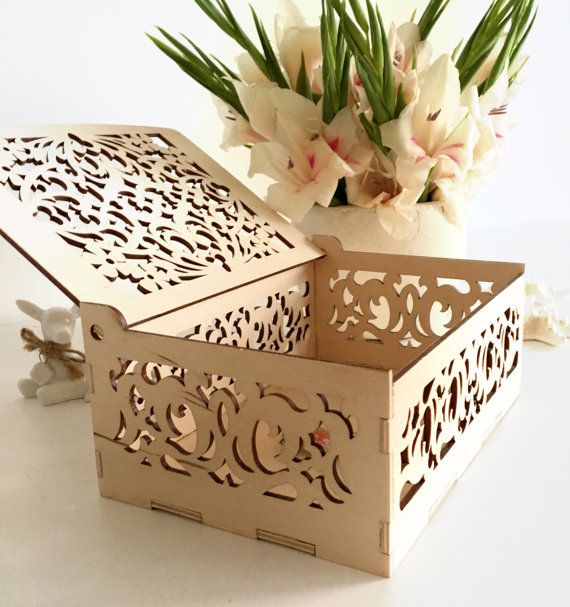 haircut keepsake box decorative wooden gift box with laser cut floral ornaments 3930