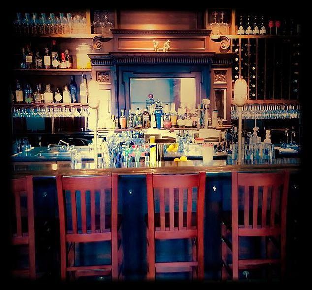 The Gryphon, Burlington, VT Liquor Cabinet, House Bar