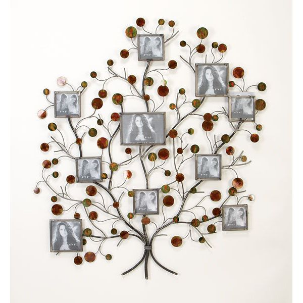 Wall Photo Collage 3d Relief Metal Wall Art Budding Tree Photo Collage Nmd13249 Family Tree Picture Frames Frame Wall Decor Family Tree Wall Decor