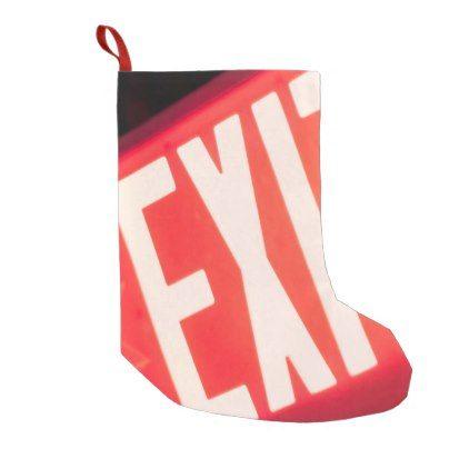 exit sign small christmas stocking christmas stockings merry xmas