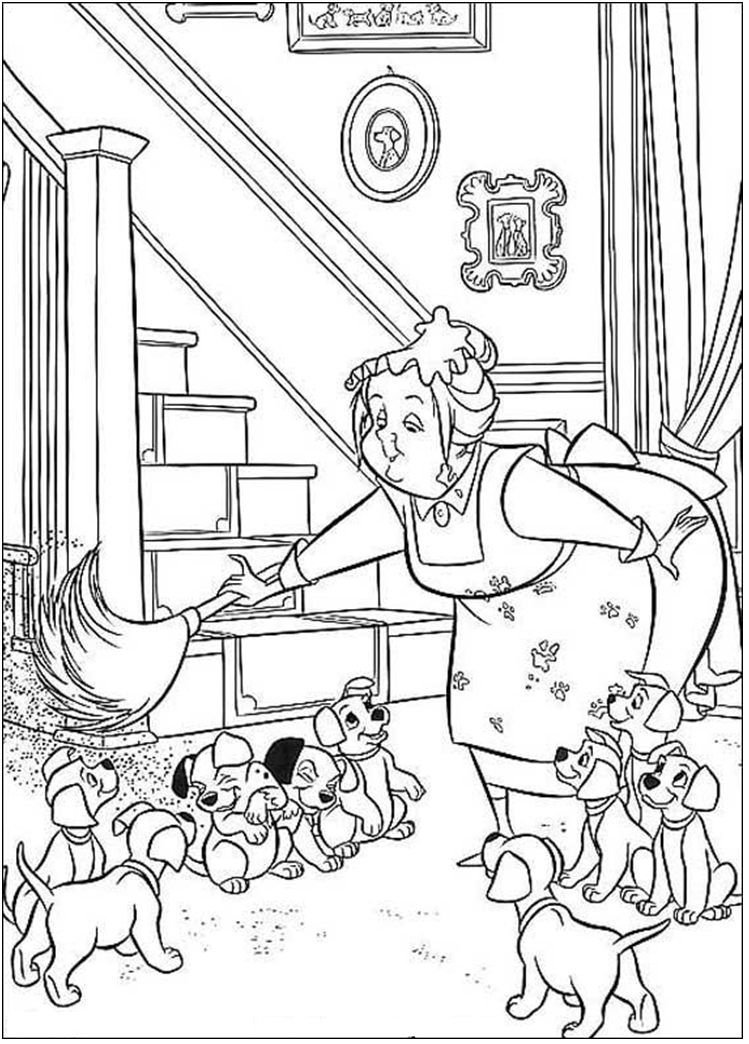 101 Dalmatians coloring page | Animal Coloring Books | Pinterest ...