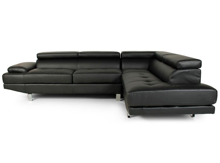 sofa seccional marquis home plain izquierdo negro