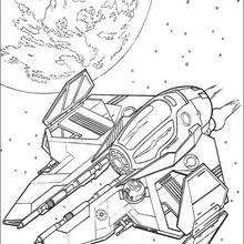 Spaceship Of Obi Wan Kenobi Coloring Page Movie Coloring Pages