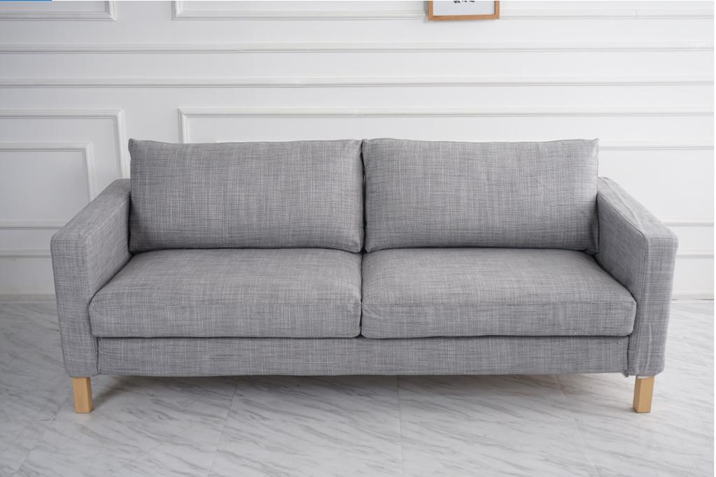 1) Karlstad Covers In Fabric Matchs Isunda Gray Color | LindaKale | Karlstad Sofa, Ikea Karlstad Sofa, Ikea Sofa