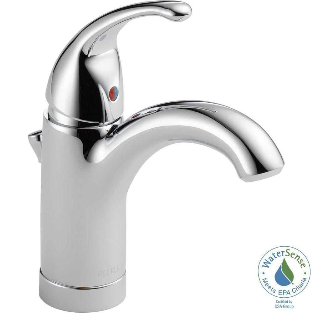 Peerless Apex Single Hole Single Handle Bathroom Faucet In Chrome