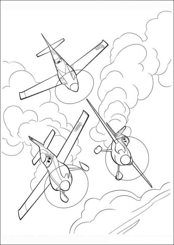 What About Coloring This Amazing Scene From The Upcoming Planes Movie Ripslinger Is Captain Of Team RPX Ned And Zed Are His Teammates Have Fun