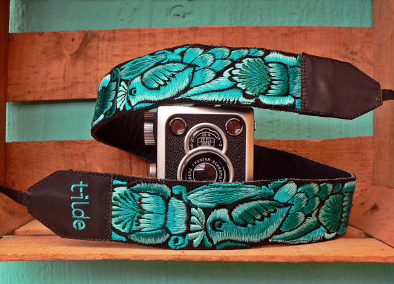Leather camera strap, Unique camera strap, Gift photographer, Gift