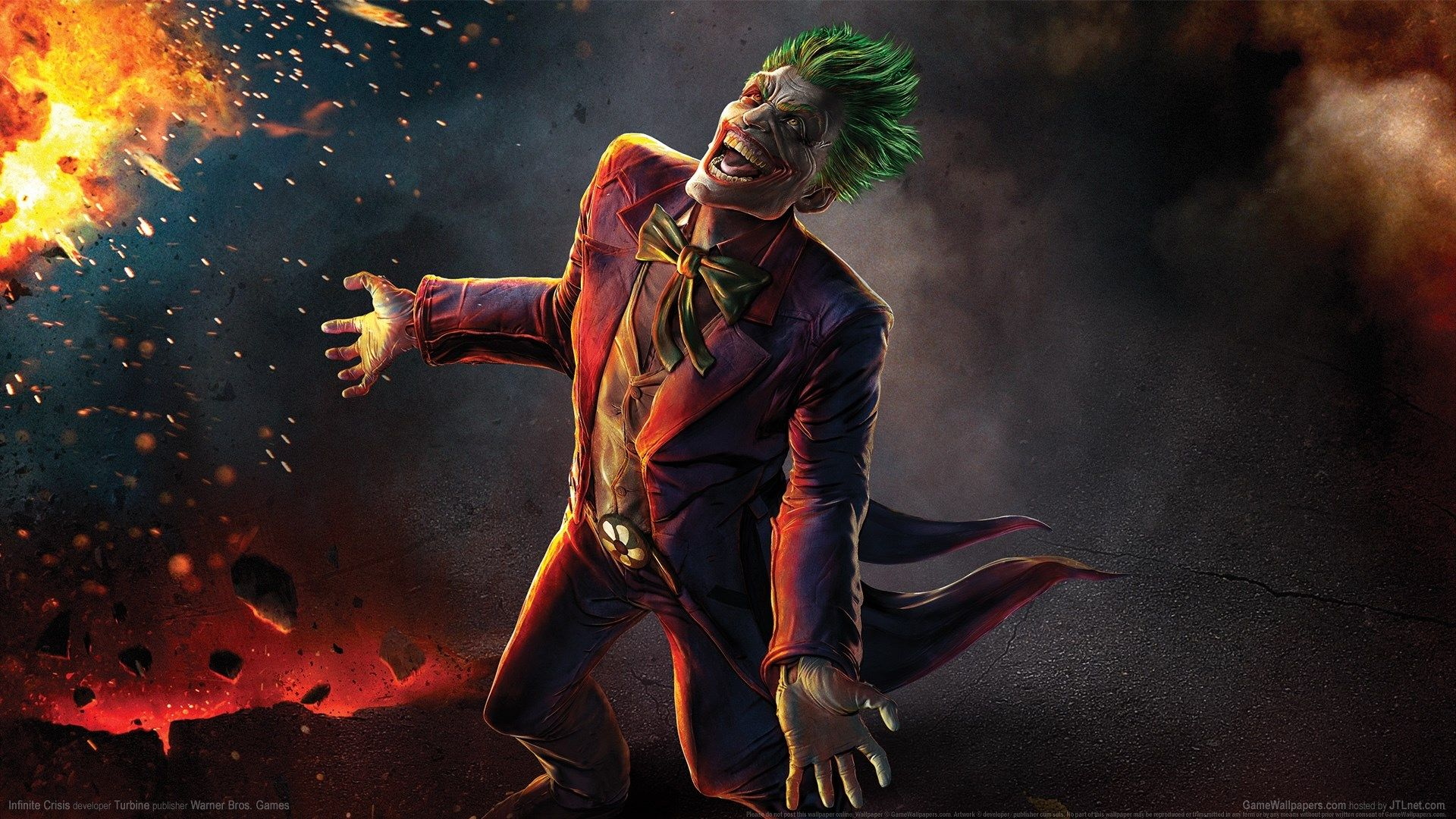 Infinite Crisis Full Hd Background 1920x1080 Gaming Wallpapers Joker Images Joker Hd Wallpaper