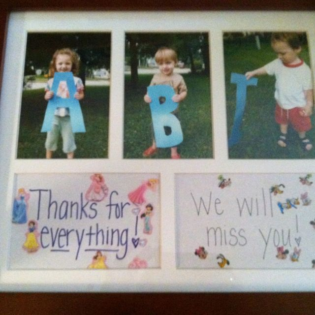 My goodbye nanny gift from my kiddos today what a great gift idea my goodbye nanny gift from my kiddos today what a great gift idea abi negle Images