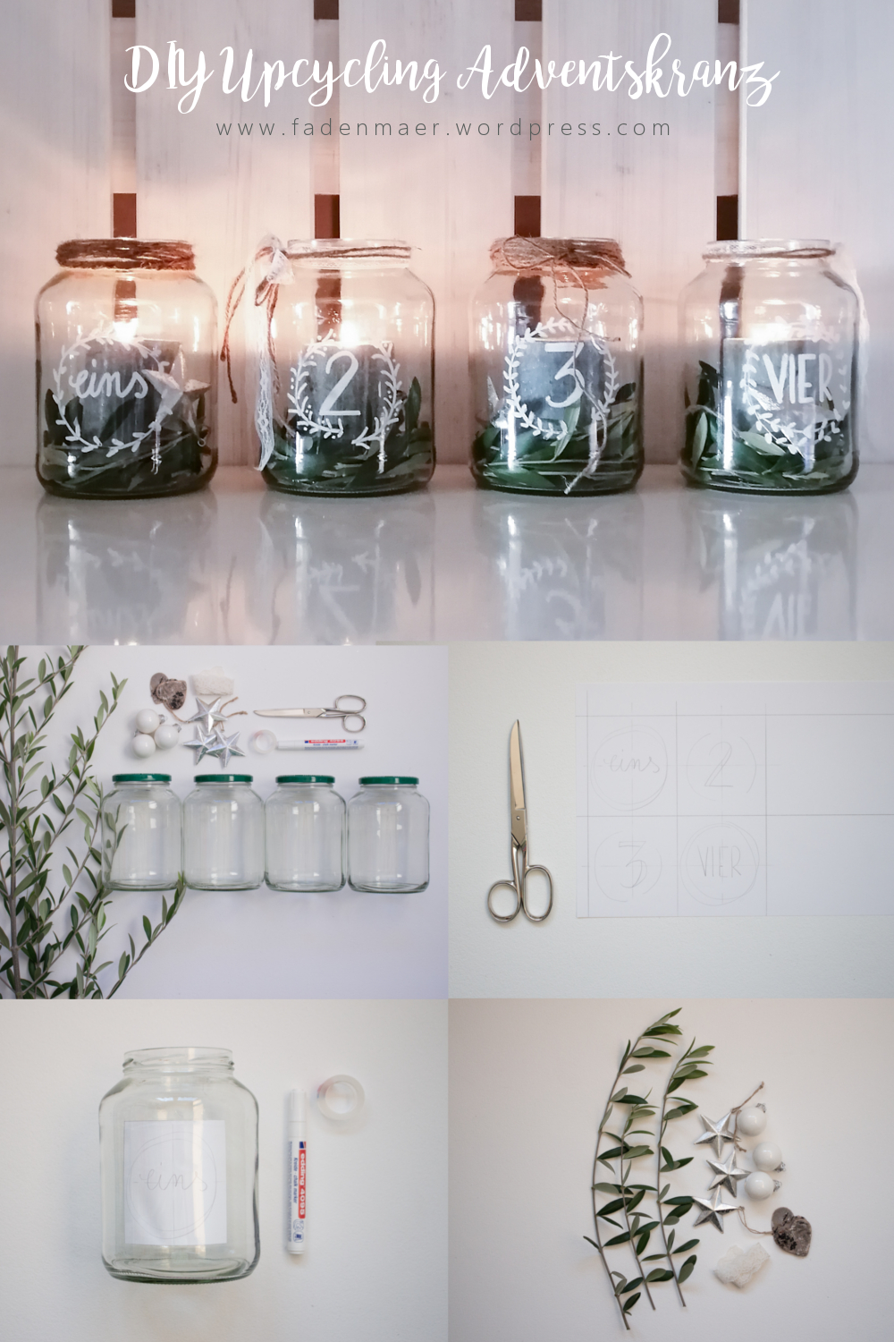 DIY Upcycling Adventskranz #winterdekodraussen