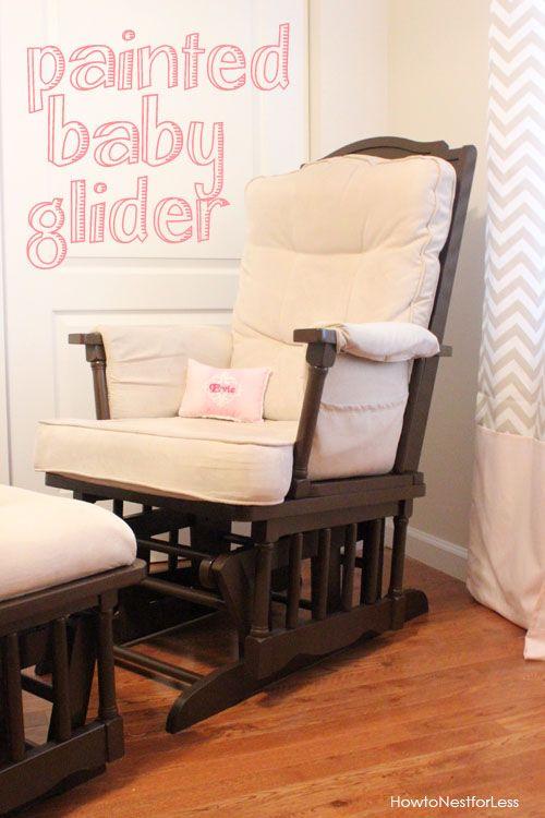 Painted Baby Glider   Sillas mecedoras, Mecedora y Solar
