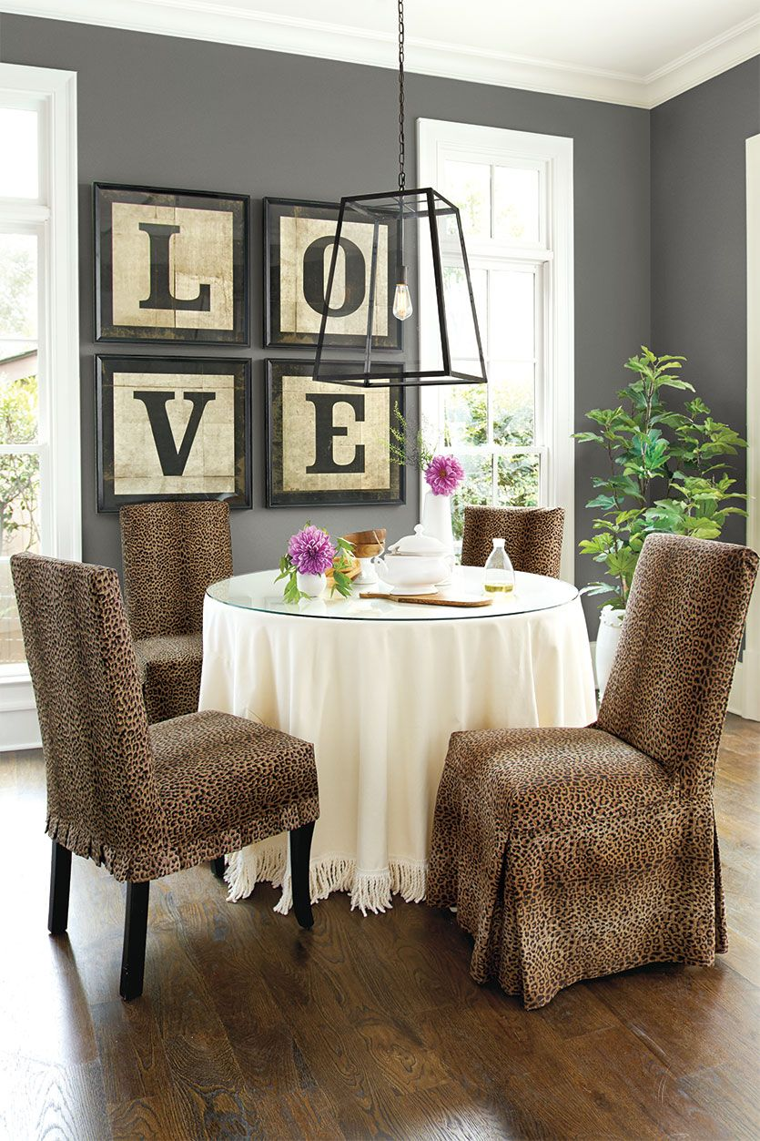 Animal Print Dining Room Chair Covers don't be afraid of: animal prints | dining room | pinterest | paint