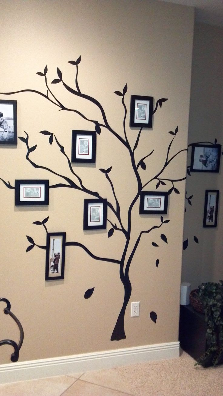kohls wall frames | tree wall done by my sisters. Tree stickers from ...