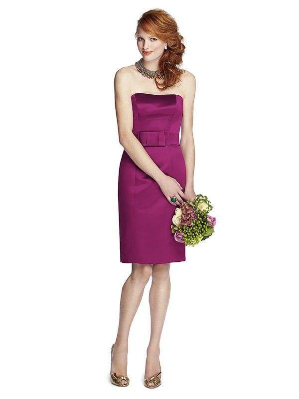 Dessy 57 Grand 5700 Duchess Satin Strapless Bridesmaid Dress