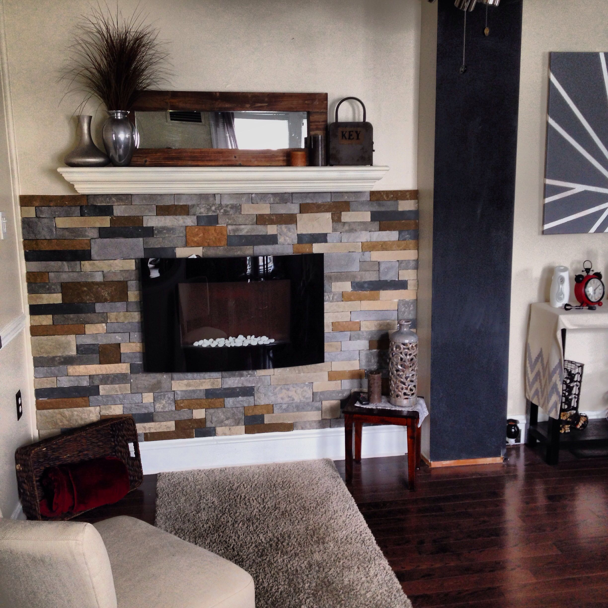 electric fireplace mantle and airstone home decor pinterest