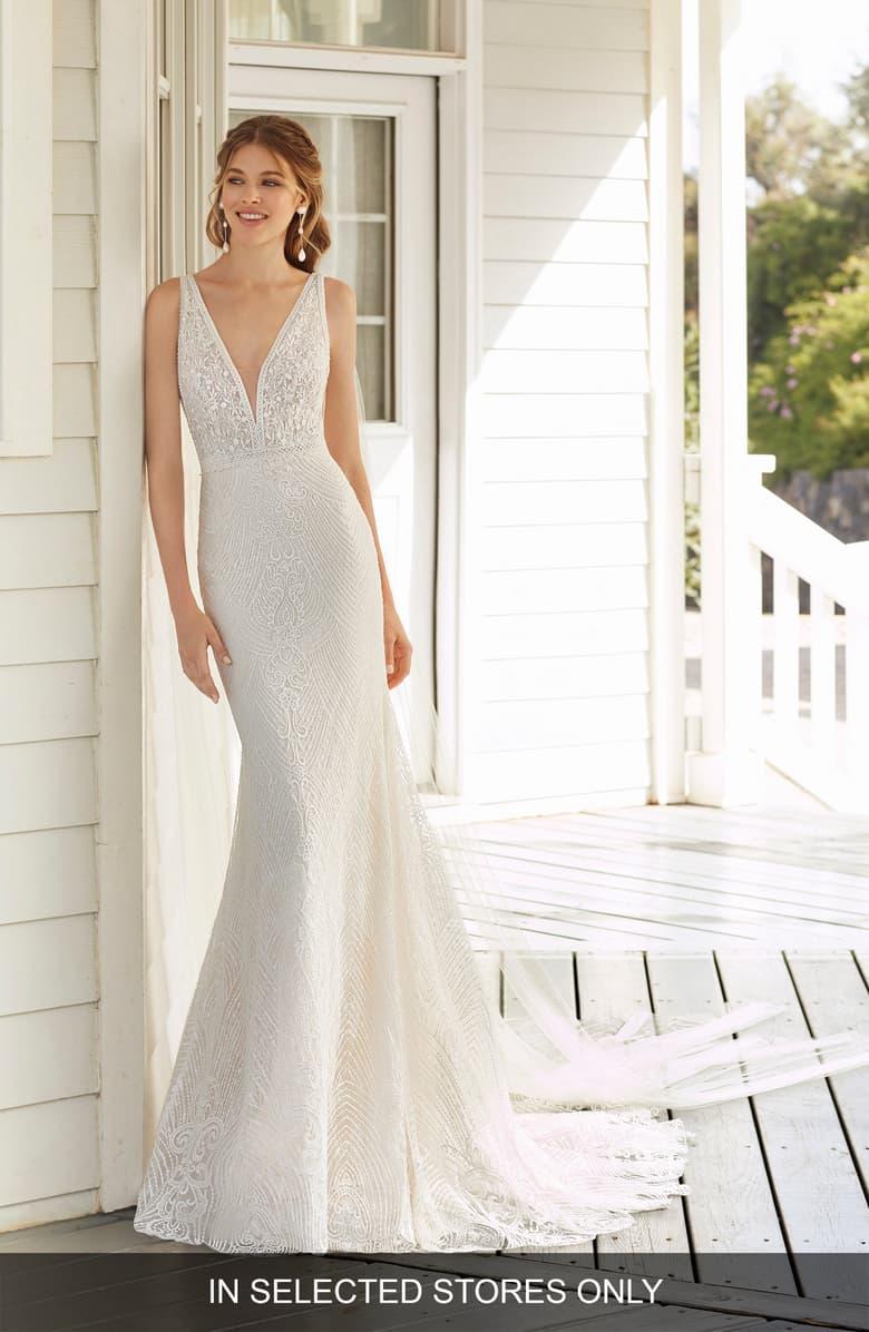 Rosa Clará Cher Beaded Lace Mermaid Wedding Dress in 2020