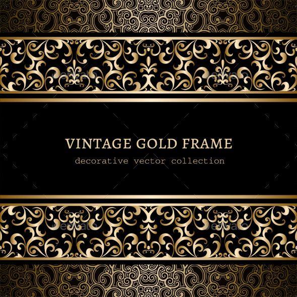 Wallpaper Borders Tinkytyler Org Stock Photos Graphics Vintage Frames Frame Gold Border