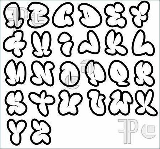 To Do Bubble Letters Form Graffitigraffiti Alphabet Us Show All