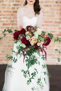 marsala and blush flowers - Google Search