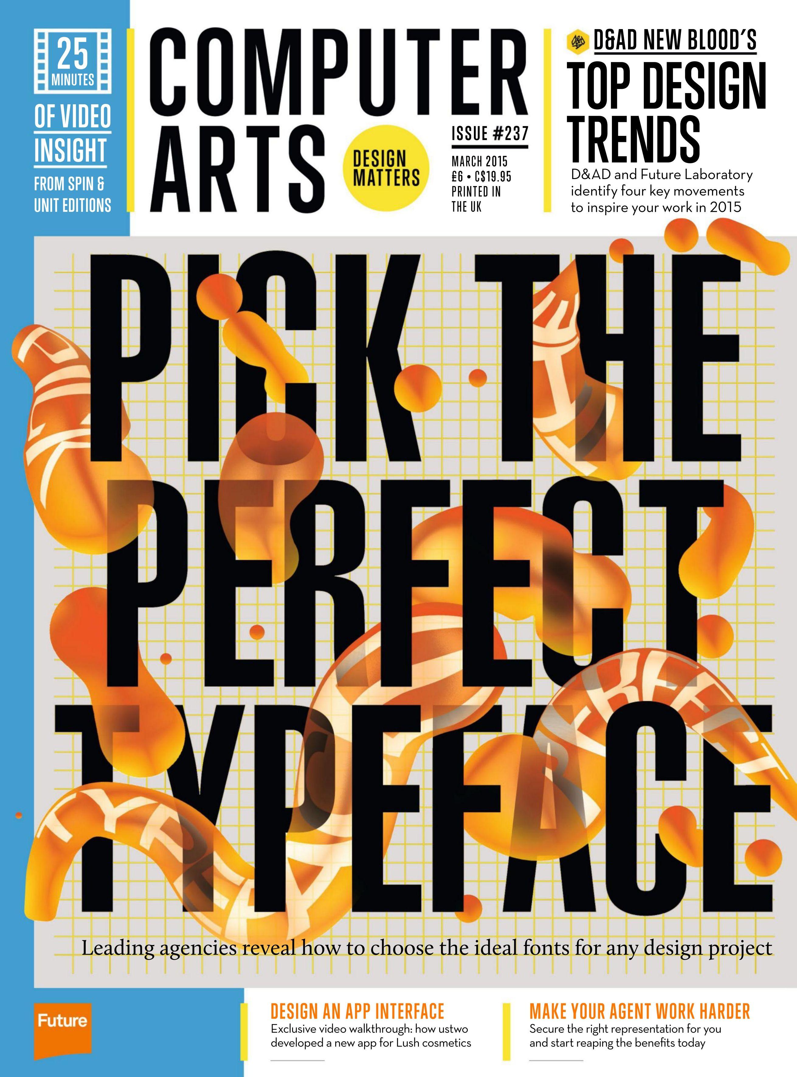 #computer #arts Magazine 237 Pick The Perfect #typeface!