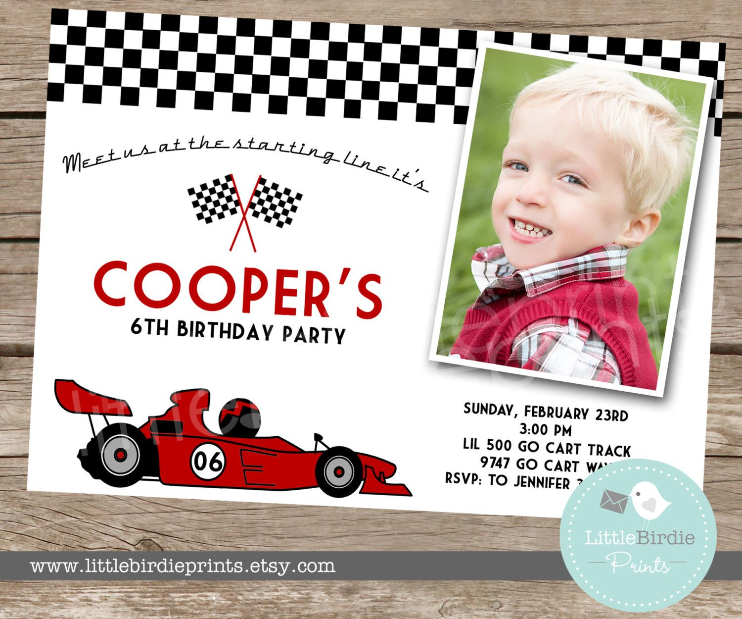 Race car invitation birthday party for boy by littlebirdieprints race car invitation birthday party for boy by littlebirdieprints 1500 stopboris Gallery