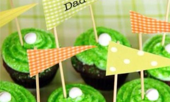 DIY Father's Day golf cupcakes